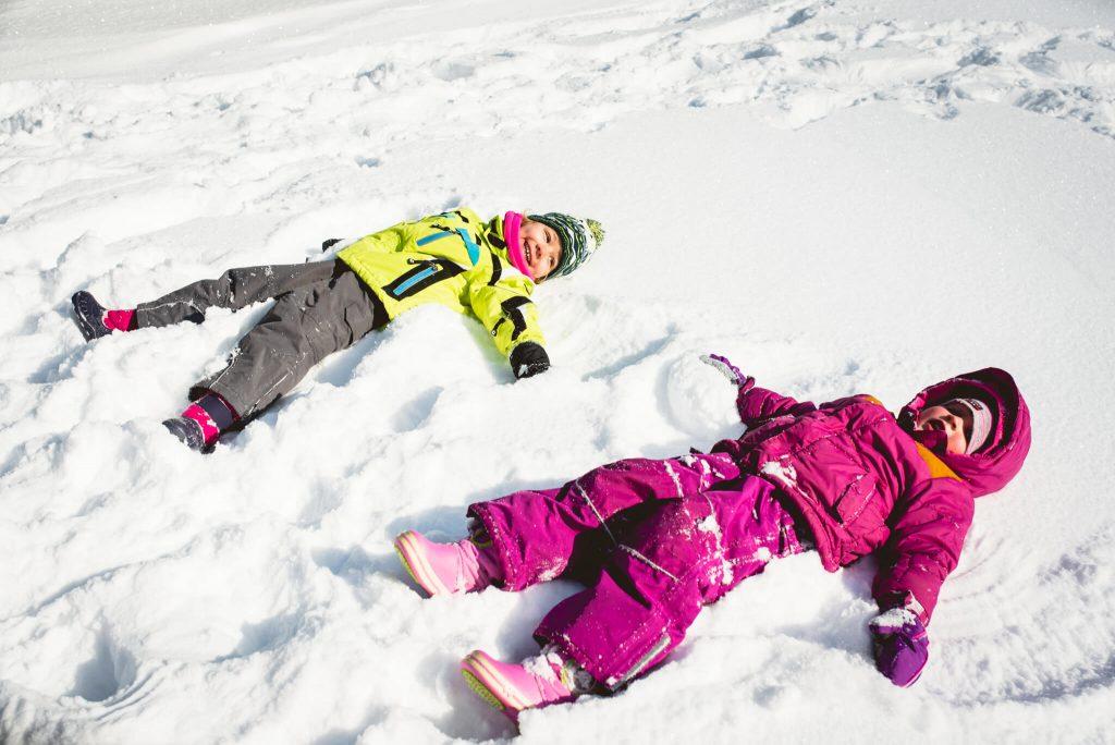 Aniołki na śniegu